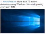 Windows 10 installed on more than 75 million devices