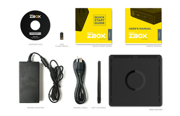 Zotac includes several items, such as a WiFi antenna, in the box. (Source: Zotac)