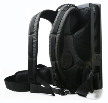 The strap system can be used to carry the PC like a backpack. (Source: Zotac)