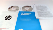 Besides a lot of reading material, HP also includes a Windows 8 installation DVD and a driver DVD.
