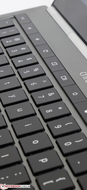 The standard F1 to F12 keys have been replaced with basic Back, Forward, Refresh, Volume, Brightness, and other toggles.