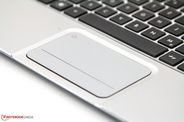 Touchpad with integrated mouse buttons