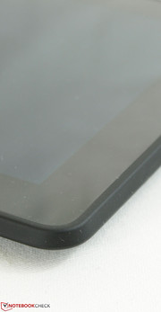 The matte back surface extends around the edges and corners