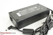 Large AC adapter outputs 19 V