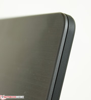 The display is thicker than most Ultrabooks likely due to the flip mechanism