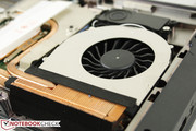 GPU and CPU have independent heat sinks and fans