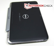 Combined with the keyboard dock, the tablet transforms into a full-blown notebook...