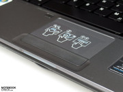 The touch pad even features a multi touch functionality.