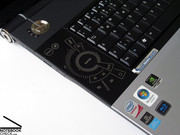 ... and on the left side of the keyboard is the CineDash MediaConsole.