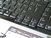 The keyboard looks very good, because the surface of the buttons is plain. The user has to get used to this keys.