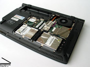 Our sample notebook was equipped with two Western Digital hard disks with an overall disk size of 640GB.