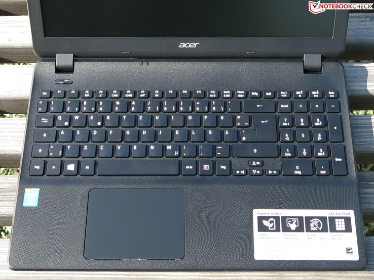 Input device's of Acer's Aspire E15 ES1-512-P1SM