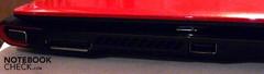 Links ein XGP-Port, über den man eine externe Grafikkarte anschließen kann.