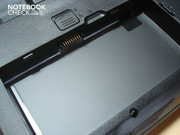 Battery slot in the case's base