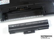 The battery is found in the case's back, as typical for notebooks