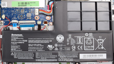 Lenovo installs a 30-Wh lithium-ion battery