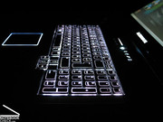One of the highlights is the backlit keyboard, which delivers quite well in darker environments and looks sweet to boot.