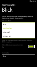 Various display options can be selected