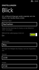 The time frame for night mode can be set freely.