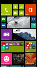 The directories can be pinned on the home screen in different sizes.
