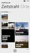Pictures can be viewed chronologically via the timeline.