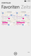 Favorite places can be saved in favorites list.