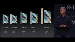 Apple keynote presentation iPad lineup
