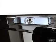 A 2 Megapixel webcam is integrated into the frame of the display.