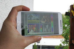 Outdoor use: maximum display luminance with sensor