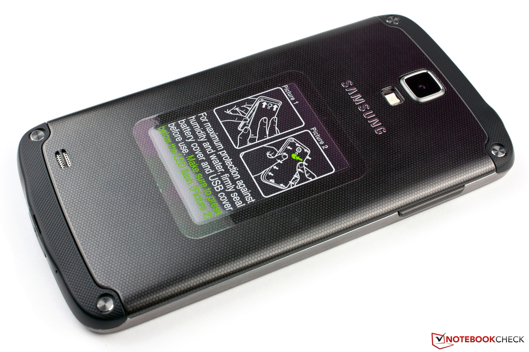 Notebook samsung galaxy s4 - The Backside Is Made Of Plastic With A Honeycomb Pattern