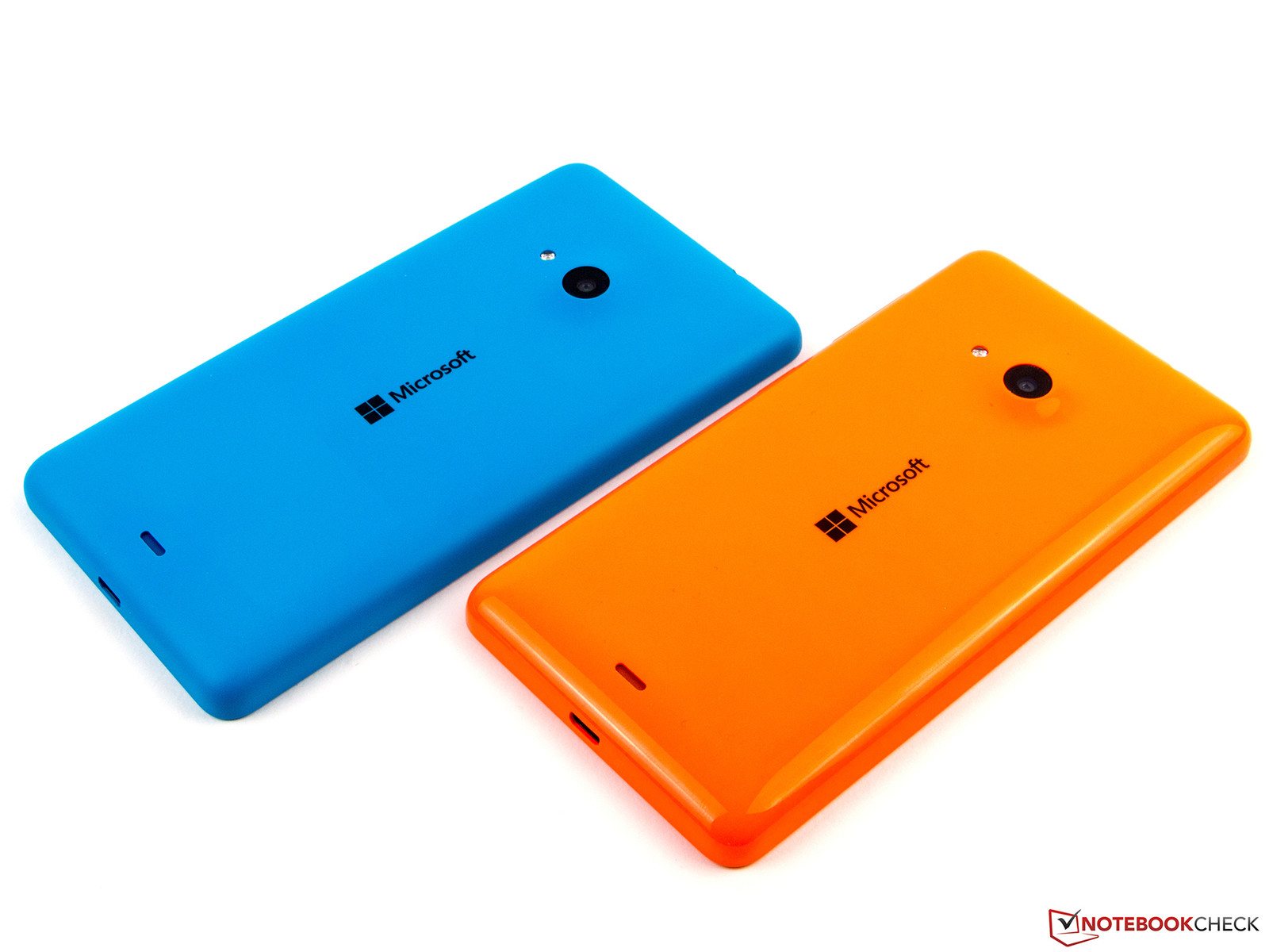 Our review samples were glossy orange and matte cyan. Microsoft's Lumia 535 ...
