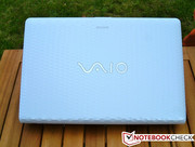 Typical for VAIO notebooks: the famous logo on the cover