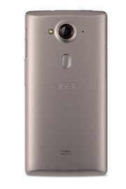 ...gray. The Acer Rapid Button is underneath the 13-MP-camera.