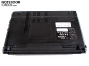 The flaps, which allow access to the interior of the laptop, are held by 5 screws each and can be easily removed