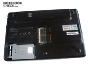 The RAM and the hard disk are accessible over two covers in the case's bottom