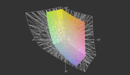 HP Envy 14-2090eo vs. AdobeRGB (grid)