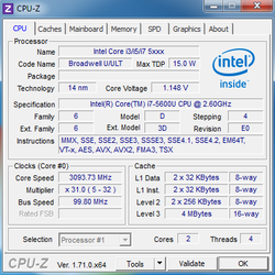 "Intel Core i7-5600U ""Broadwell"""