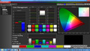Color Management (pre-calibration, target color space sRGB)