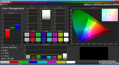 Color Management (optimized settings, target color space sRGB)