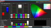 Color Management (factory settings, target color space sRGB)