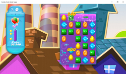 Candy Crush runs smoothly