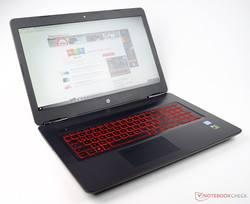In review: HP Omen 17-w110ng. Test model courtesy of Notebooksbilliger.