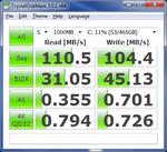 CrystalDiskMark Seagate Momentus 500 GB