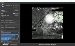 Cinebench R15: The very good cold start result persists when running in a loop