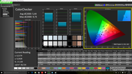 CalMAN ColorChecker (factory settings)