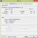 System info: CPUZ Mainboard