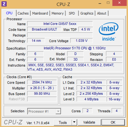 "Brand-new: Intel Core M-5Y70 ""Broadwell"""