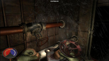 PhysX on – masses of water pour out of pipes