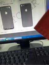 The image claims to be the chassis design of the iPhone 7 from Apple supplier Catcher (Source: nowhereelse.fr)