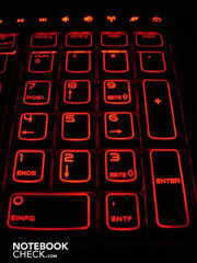The keys look very elegant when lighted and provide for excellent orientation
